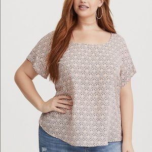Torrid Size 0 Multi Color Geo Print Georgette Top